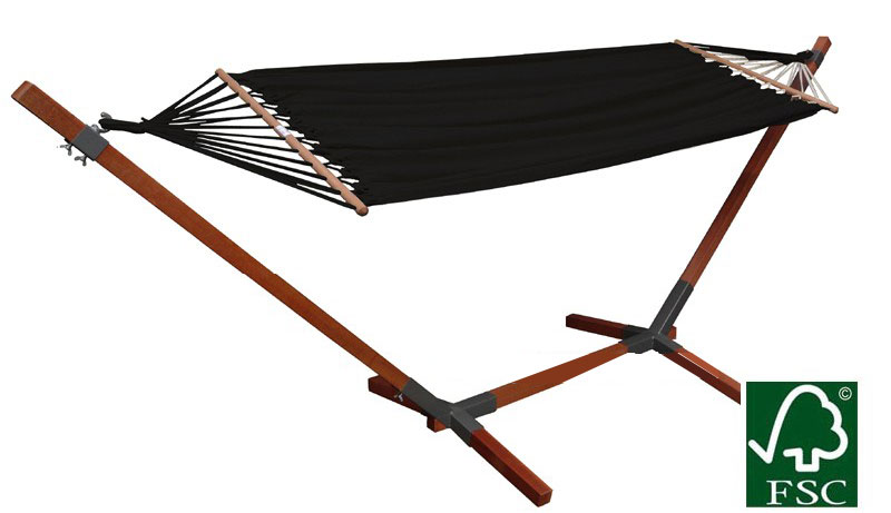 Hangmat En Standaard.Mudanza Hangmat Met Standaard Set Zwart