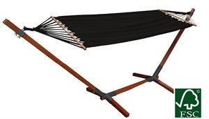 Afbeelding van Mudanza hangmat met standaard set zwart